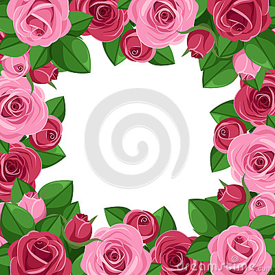 Background with red and pink roses.