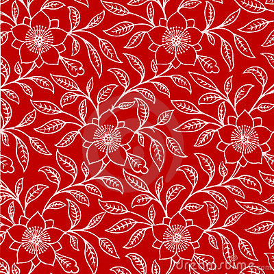 All White Floral Pattern Background