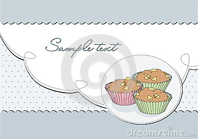Background retro elegant with muffin;