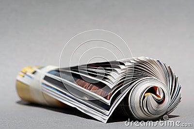 Background Rolledup magazine