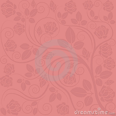 Background with rose decorations