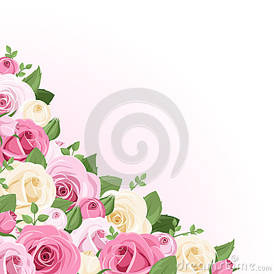 Background with roses.