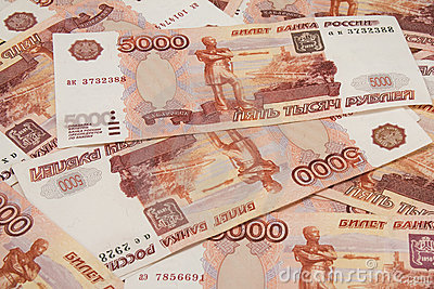 Background of russian money,