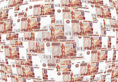 Background of Russian roubles