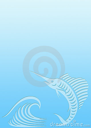 Background sailfish wave
