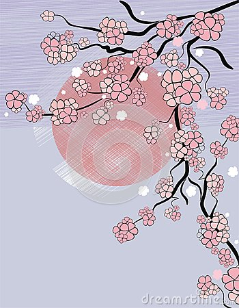 Background with sakura blossom