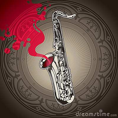 Background with saxophone.