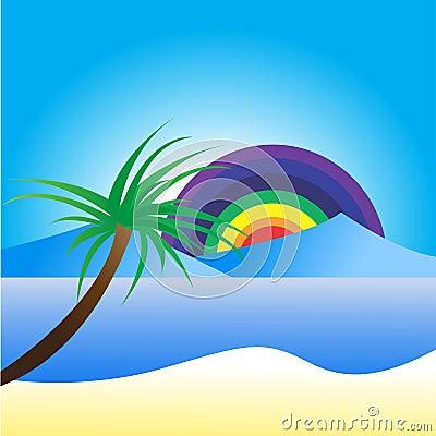 Background of Seascape Vector Illustration