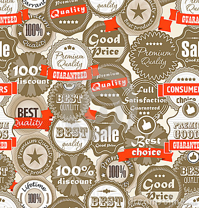 Background of shopping Premium quality labels