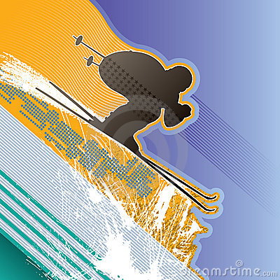 Background with skier