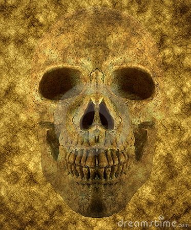 Background of skull