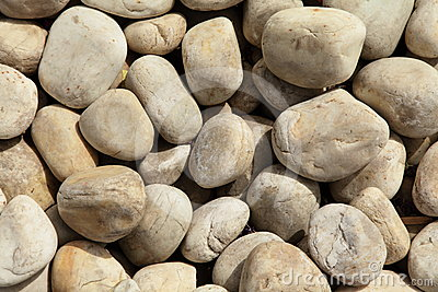 Background of smooth stones