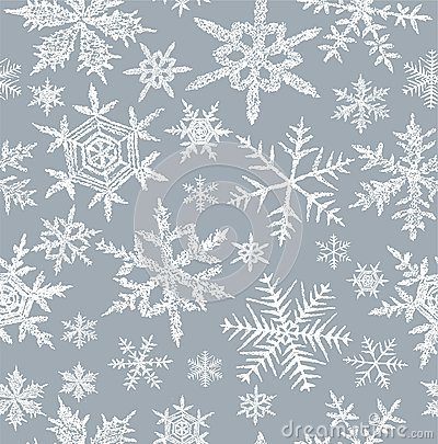 Background with a snowflakes