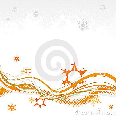Background with snowflakes. Vector
