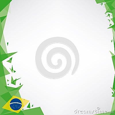 Background square origami of brazil