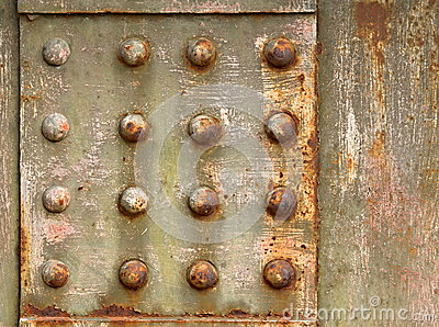 Background with steel rivets Stock Photo