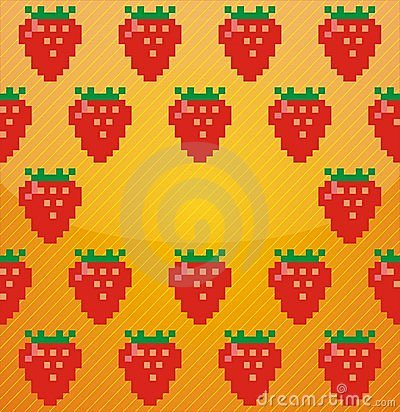 Background from strawberries