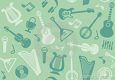 Background with string musical instruments