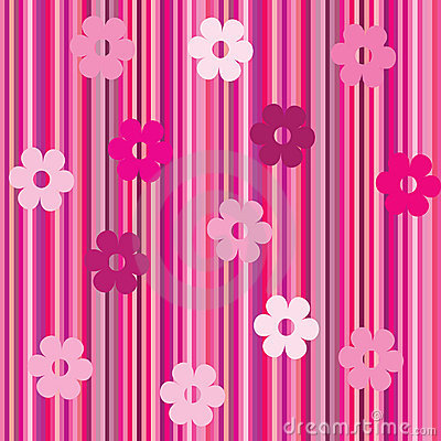 Background with stripes and flowersd-1