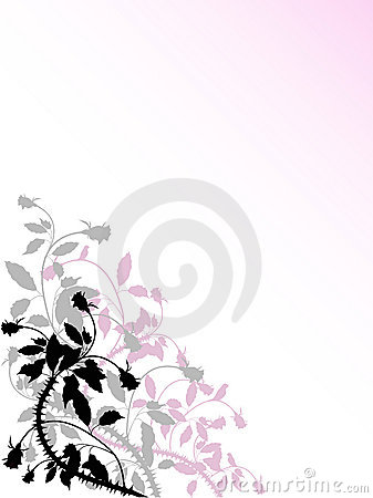 Background with stylised rose pattern