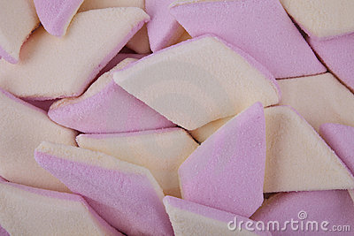 Background of sugar coated marshmallow candy