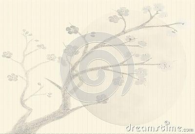 Background Sumi-e styled