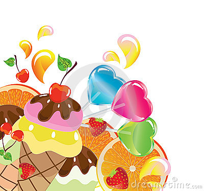Background with sweets, illustration