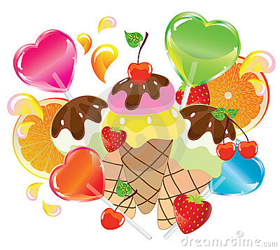 Background with sweets, Valentine