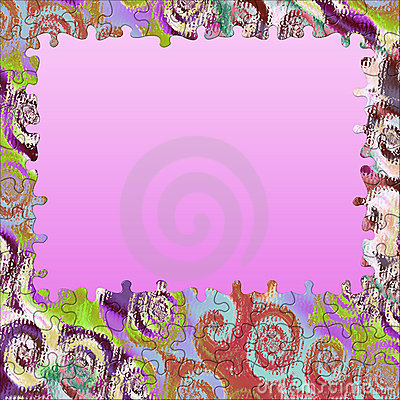 Background swirl colors puzzle frame