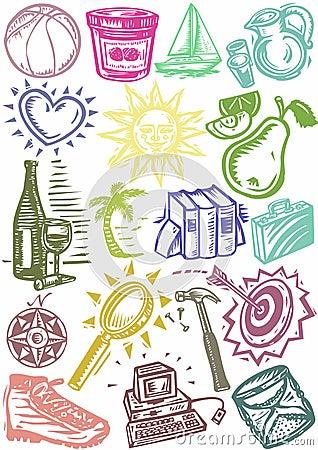 Background symbols