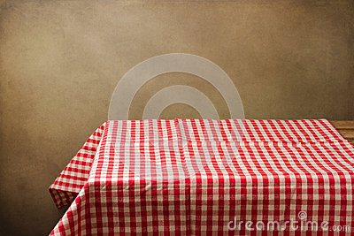 Background with table and tablecloth