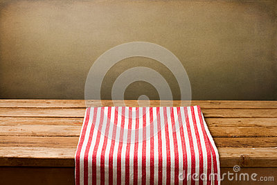 Background with tablecloth