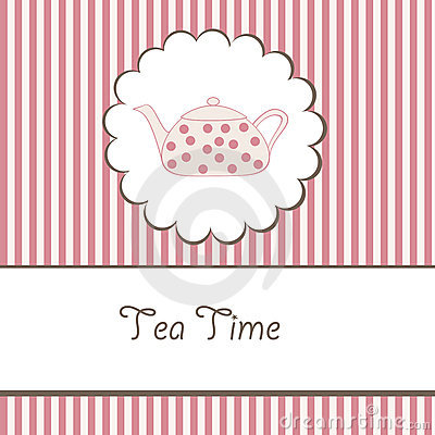 Background with teapot