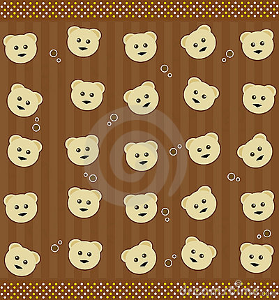 Background with teddy bears