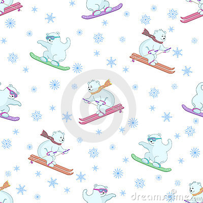 Background, teddy bears ski