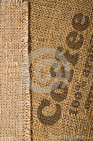 Background with texture of burlap