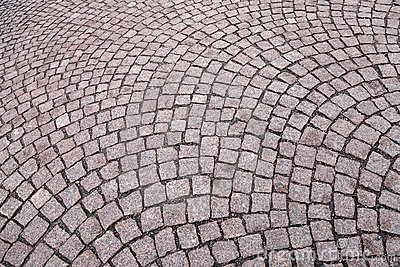 Background texture of cobblestone road