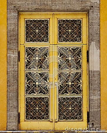 Background/Texture - decorative golden door