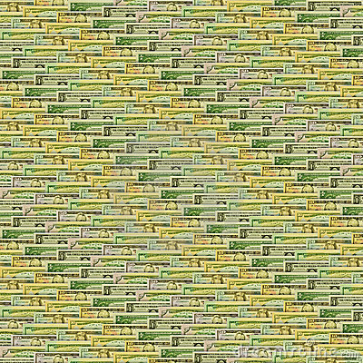 Background texture with dollar notes