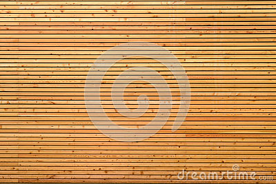 Background texture of finely slatted wood
