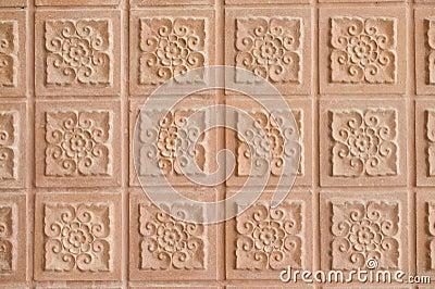 Background of Thai art style brick wall
