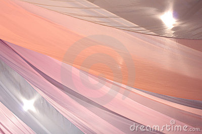 Background of tulle