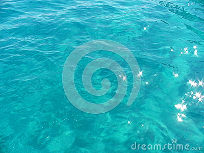Background of a turquoise water surface