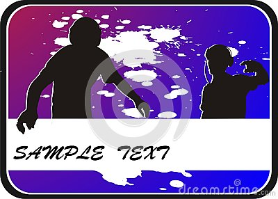 background with two silhouettes teenager