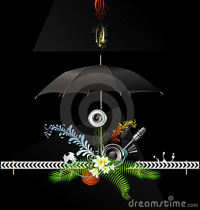 Background with umbrella