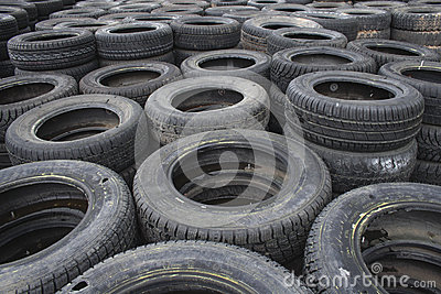 Background of used car tires
