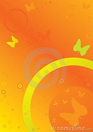 Free Background, Vector Rings And Butterfly Royalty Free Stock Photography - 2110307