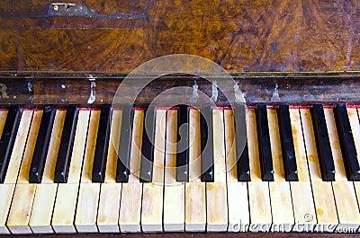 Background vintage retro musical instrument piano