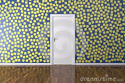 Background Wall with Post it
