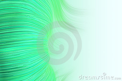 Background of wavy lines in green